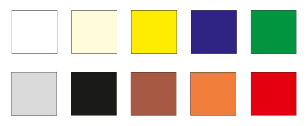 Paleta kolorów kurtyn plandekowych