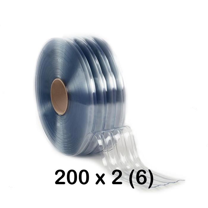 Pas PCV standard żebrowany o szerokości 200 mm