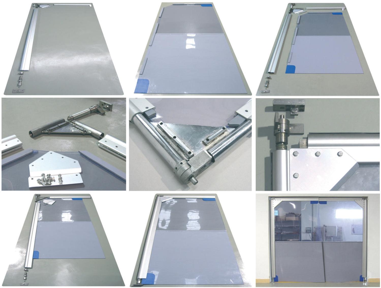 Płat bramy wahadłowej - elementy składowe i montaż
