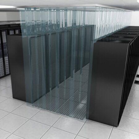 Kurtyny paskowe antystatyczne w serwerowni