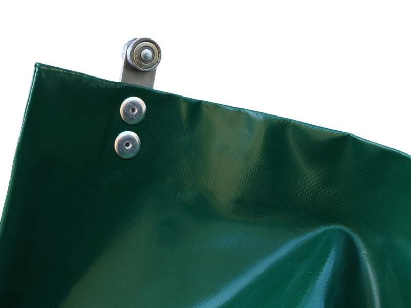 Kurtyna plandekowa z przynitowaną rolką systemy przesuwnego