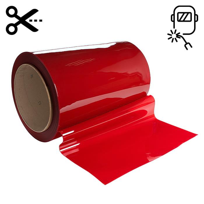 Lamela spawalnicza w kolorze czerwonym wymiary 570 x 1 mm, sprzedaż na metry