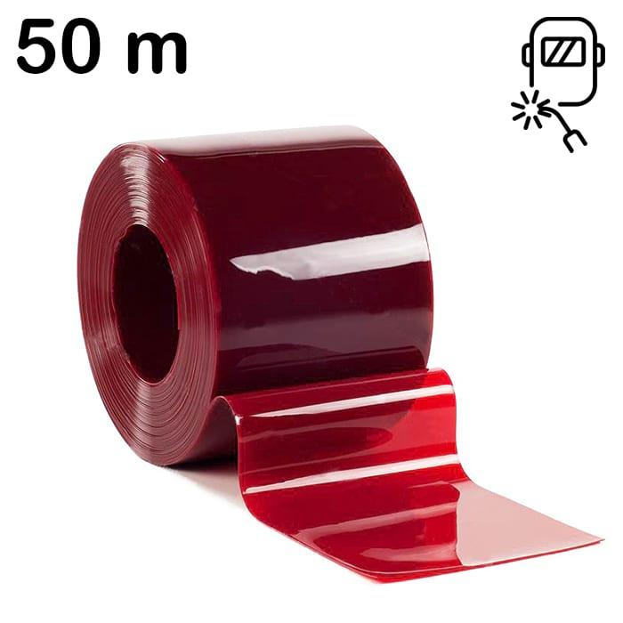 Rolka 50m lameli czerwonej spawalniczej o wymiarach 300 mm x 2 mm