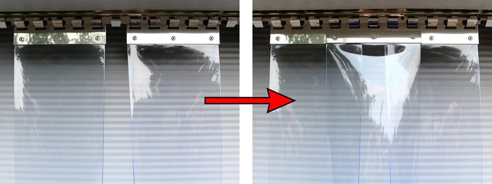 Kurtyny paskowe mają regulowany zakład, można zmieniać go również po zamontowaniu kurtyny