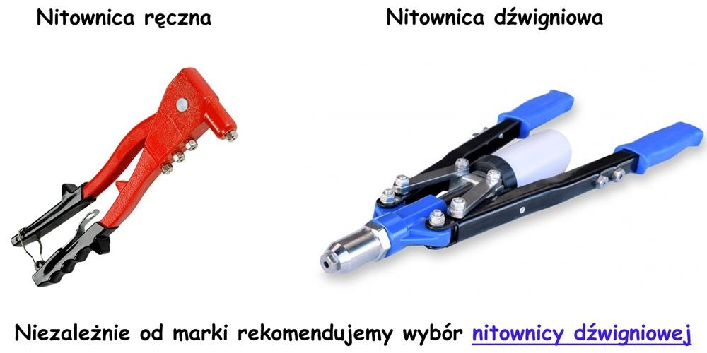 Nasza rekomendacja nitownicy do produkcji kurtyn paskowych - polecamy nitownicę dźwigniową