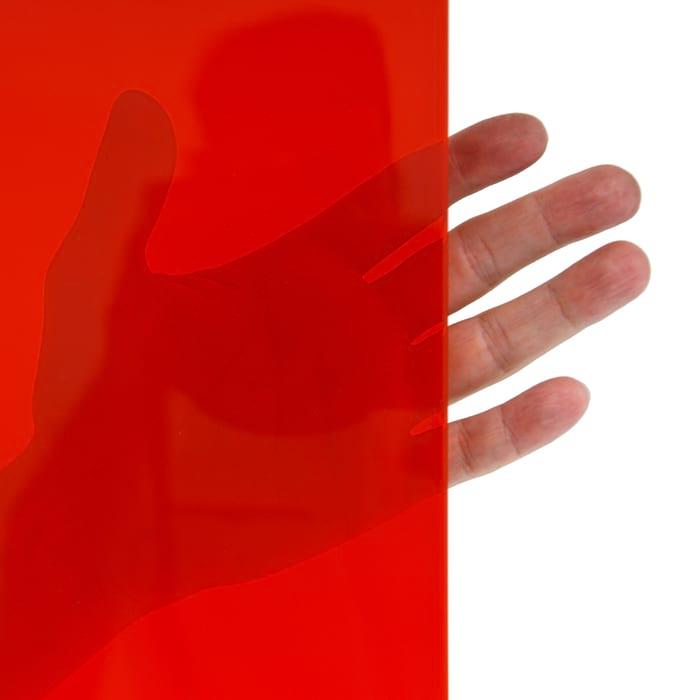 spawalnicza lamela czerwona – przezwoczystość