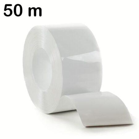 Pas PCV w kolorze białym - rolka o długości 50 m