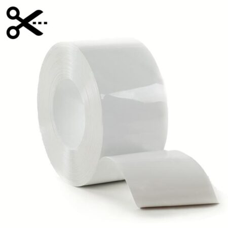 Sprzedaż na metry pasa elastycznej folii PCV w kolorze białym