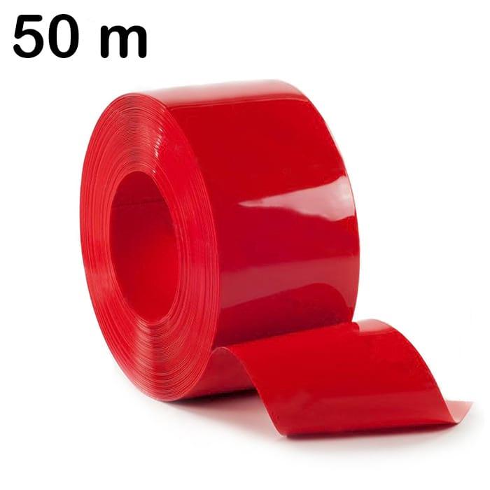 Rolka 50 m pasa elastycznej folii PCV w kolorze czerwonym