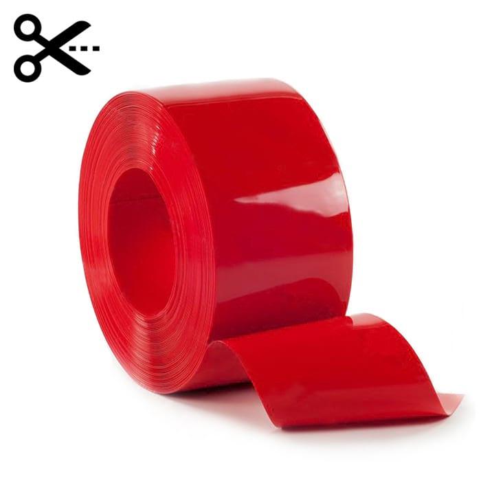 Sprzedaż na metry pasa elastycznej folii PCV w kolorze czerwonym