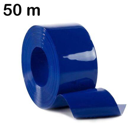 Sprzedaż na rolki 50 m pasa elastycznej folii PCV w kolorze niebieskim