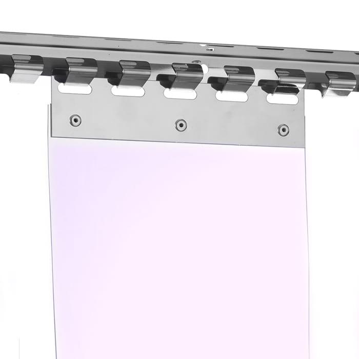 Zawiesie grzebieniowe do wieszania pasów PCV i kurtyn paskowych