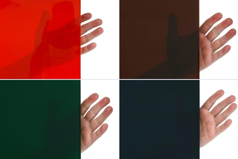 Wypełnienie parawanu spawalniczego w czterech kolorach